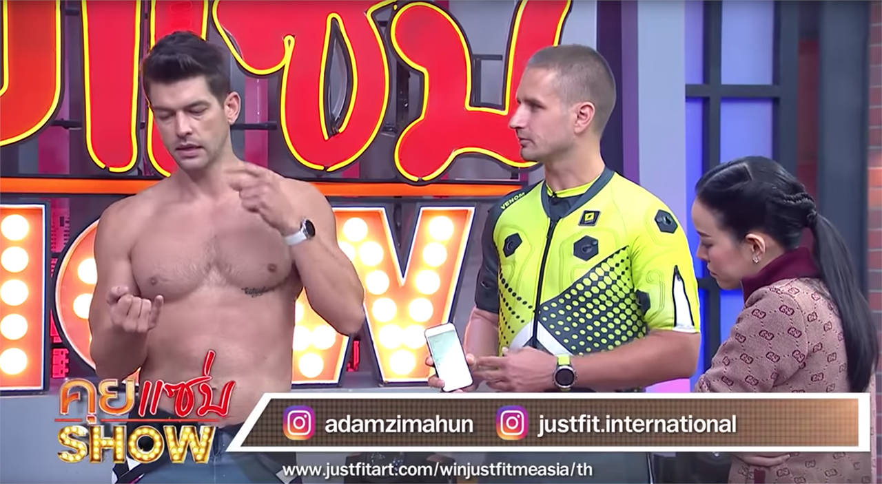 Justfit on Thai TV show