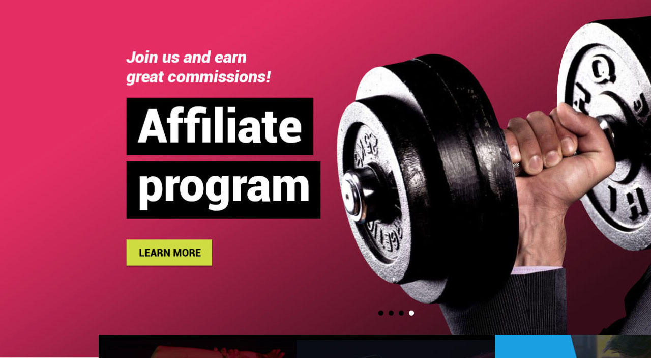 Launch of our EMS fitness webshop and affiliate program